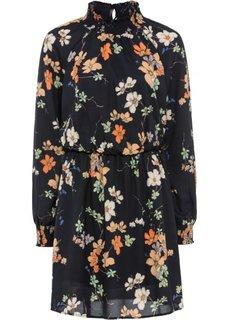 Платье из шифона (темно-синий в цветочек) Bonprix