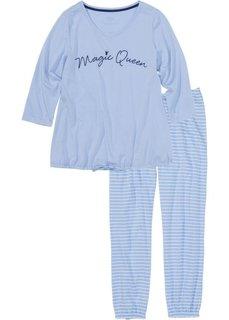 Пижама длиной 7/8 (синий/кремовый) Bonprix