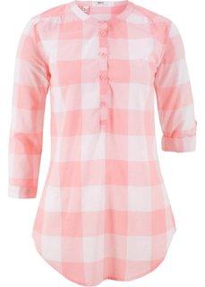 Блузка в клетку (розовый леденец/белый в клетку) Bonprix