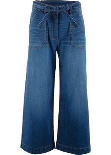 Джинсы широкие длины 7/8 (синий «потертый») Bonprix