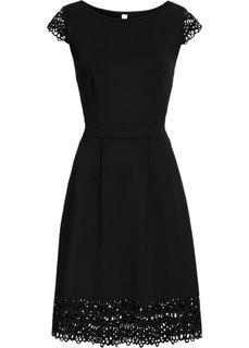 Платье с вырезами (черный) Bonprix