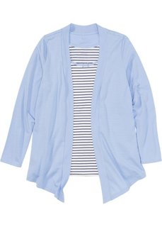 Куртка и топ из трикотажа (синий в полоску) Bonprix