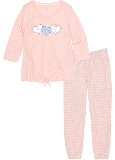 Пижама длиной 7/8 (розовый/кремовый) Bonprix