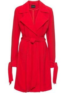 Пальто с запахом, без подкладки (клубничный) Bonprix