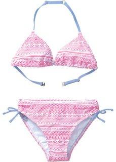 Купальный костюм бикини для девочек (2 изделия) (розовый/белый) Bonprix