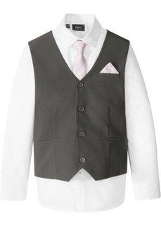 Жилет + рубашка + галстук (3 изд.) (антрацитовый/белый) Bonprix