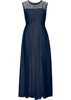 Длинное платье (темно-синий) Bonprix