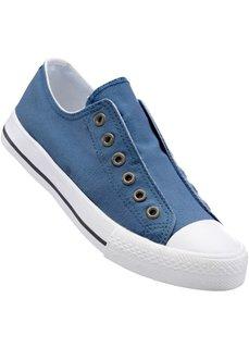 Кеды без шнурков (синий джинсовый) Bonprix