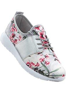 Кеды (белый/розовый в цветочек) Bonprix