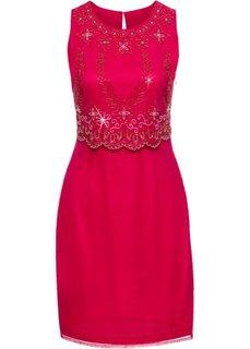 Платье с вышивкой (красный) Bonprix