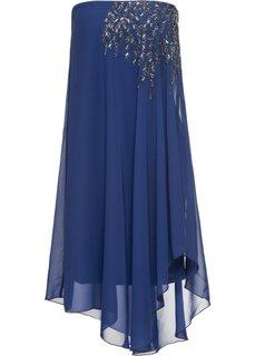 Платье на одно плечо (ночная синь) Bonprix