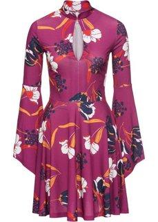 Платье с принтом (ярко-розовый) Bonprix