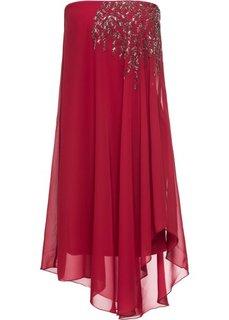 Платье на одно плечо (темно-красный) Bonprix