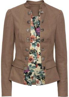 Пиджак 2 в 1 (серо-коричневый в цветочек) Bonprix