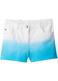 Шорты из твила с эффектом деграде (белый + карибский синий) Bonprix