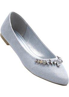 Туфли (белый с блестками) Bonprix