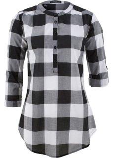 Блузка в клетку (черный/белый в клетку) Bonprix