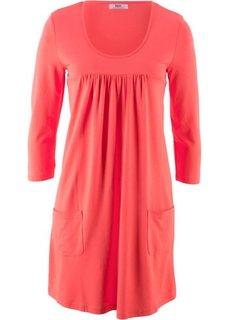 Трикотажное платье с рукавами 3/4 (омаровый) Bonprix