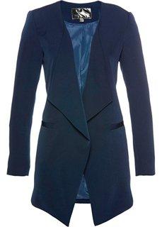 Пиджак удлиненного покроя (темно-синий) Bonprix