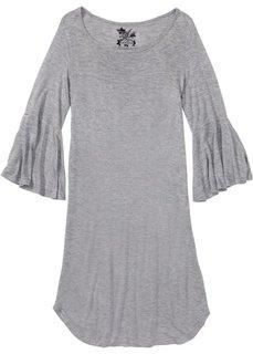 Сорочка ночная, с рукавами-воланами (светло-серый меланж) Bonprix