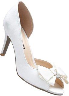 Туфли из сатина (кремовый) Bonprix