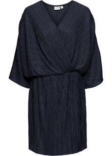 Платье плиссированное (темно-синий) Bonprix