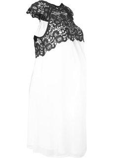 Платье праздничное для беременных (кремовый) Bonprix