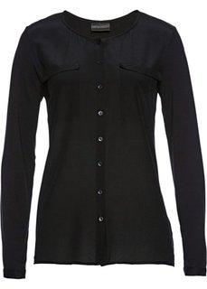 Блузка с содержанием шелка (черный) Bonprix
