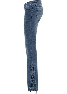 Джинсы Bootcut на шнуровке (синий) Bonprix
