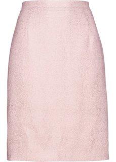Юбка из блестящего крепа (нежно-розовый) Bonprix