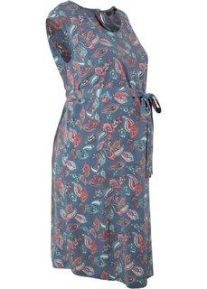 Платье для беременных (индиго с узором) Bonprix