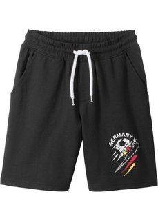 Брюки спортивные Германия (черный с рисунком) Bonprix