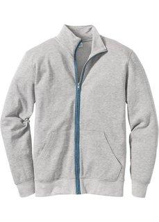 Куртка Regular Fit из трикотажа (светло-серый меланж) Bonprix