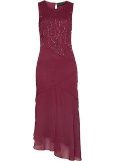 Платье, расшитое бисером (маджента) Bonprix
