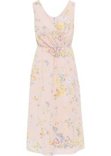 Платье (кремово-розовый/рисунок с бабочками) Bonprix