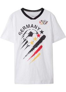Футболка Германия (белый с рисунком) Bonprix