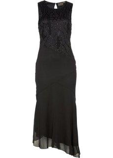 Платье, расшитое бисером (черный) Bonprix
