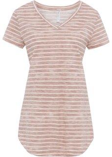 Футболка (винтажно-розовый «потертый» в полоску) Bonprix