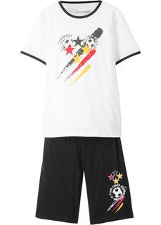 Костюм спортивный Германия (2 изд.) (белый/черный с рисунком) Bonprix