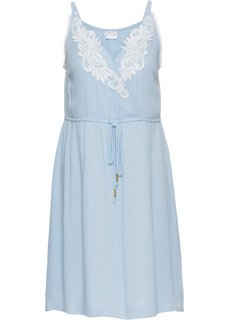 Платье с кружевной отделкой (синий пастельный/белый) Bonprix