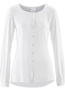 Блузка с содержанием шелка (кремовый) Bonprix