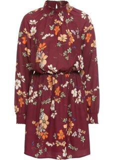 Платье из шифона (кленово-красный в цветочек) Bonprix