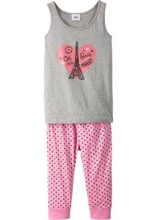 Пижама (2 изд.) (розовый/светло-серый меланж) Bonprix