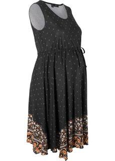 Платье для будущих мам (черный) Bonprix