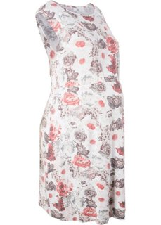 Платье для будущих мам (розовый/серый с рисунком) Bonprix