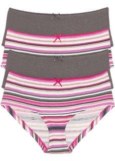 Трусики-панти (дымчато-серый/ярко-розовый в полоску) Bonprix