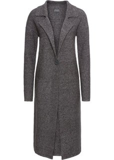 Пальто вязаное (темно-серый меланж) Bonprix