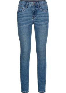 Джинсы Skinny с вышивкой (синий) Bonprix