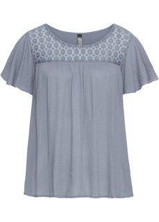 Шифоновая блузка (дымчато-синий) Bonprix