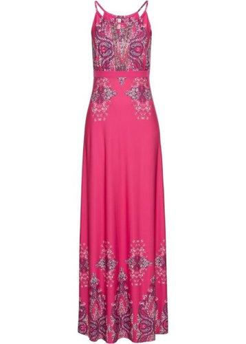 Летнее платье (розовый с узором)